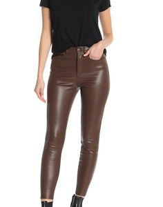 Free People Vegan Brown Skinny Pants